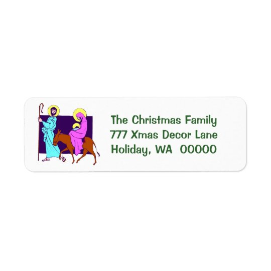 Holy Family Christmas Card Return Address Stickers
