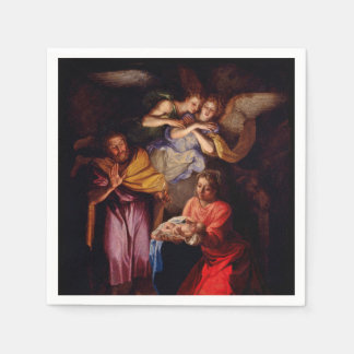 Holy Family with Angels by Coypel Paper Napkins