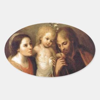 Holy Family with Cherubs by Gutierrez Sticker