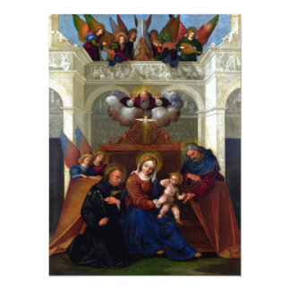 Holy Family with Saint Nicholas of Tolentino Personalized Invite