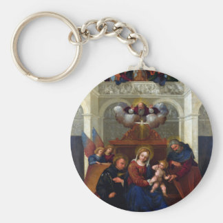 Holy Family with Saint Nicholas of Tolentino Keychain