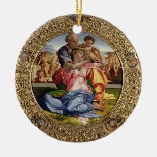 Holy Family with St. John (Doni Tondo), 1504-05 (o Round Ceramic Ornament