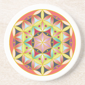 Holy geometric flower of life Coaster