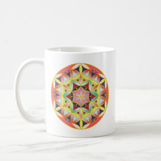 Holy geometric flower of life mag coffee mug
