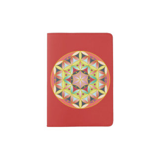 Holy geometric flower of life Passport cover