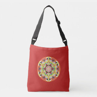 Holy geometric flower of life tote bag
