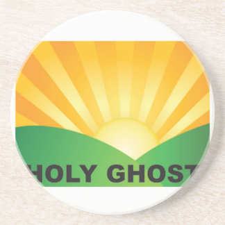 holy ghost field beverage coaster