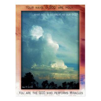 Holy God postcard