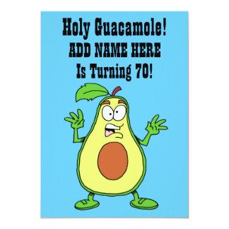 Holy Guacamole Someone Is Turning 70 Avocado Card