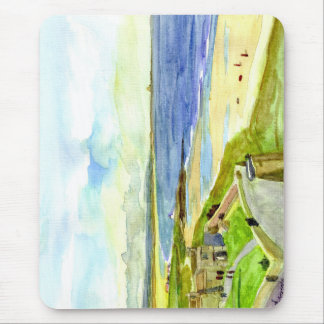 Holy Island from Bamburgh Castle Mousemat Mouse Pad