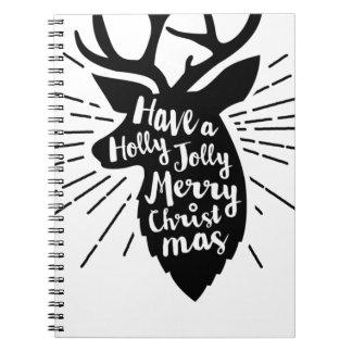 holy joly reindeer notebooks