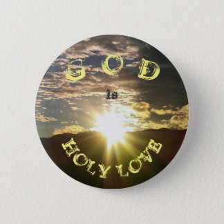 HOLY LOVE 2 INCH ROUND BUTTON