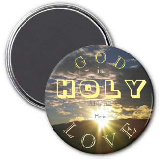 Holy Love 3 Inch Round Magnet
