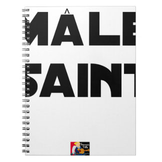 HOLY MALE - Word games - François City Spiral Notebook