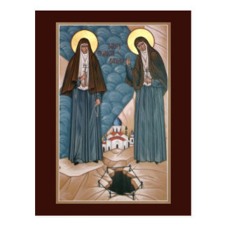 Holy Martyrs Elizabeth and Barbara Prayer Card