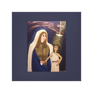 Holy Mother and young Jesus. Canvas Print