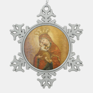 Holy Mother of Pochayiv Ukraine icon ornament