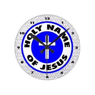 Holy Name of Jesus Round Clock