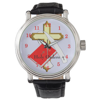 Holy Orders Religious Bible Holy Cross Design Watch