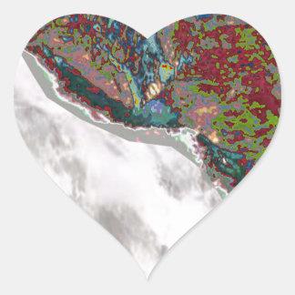 Holy River GANGA Hindu Religious Kumbh Bath Pure Heart Sticker