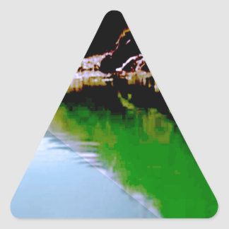 Holy River GANGA Hindu Religious Kumbh Bath Pure Triangle Sticker