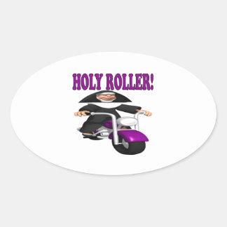 Holy Roller Oval Sticker