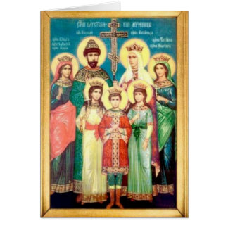 Holy Royal Martyrs Card
