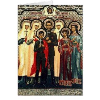 Holy Royal Martyrs Card