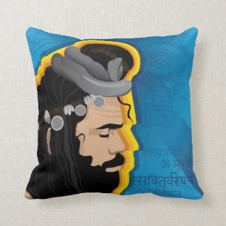 Holy sage Indian Digital Illustration Throw Pillow