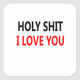 Holy Shit I Love You(1) Square Sticker