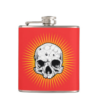 Holy Skull Hip Flask