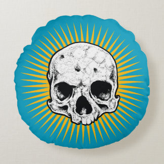 Holy Skull Round Pillow