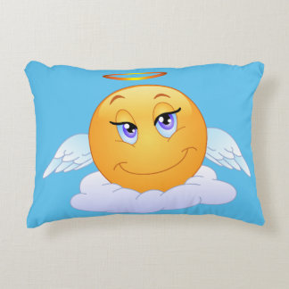 Holy smiley accent pillow