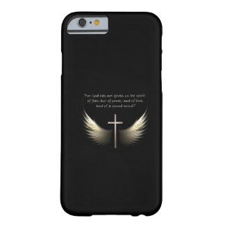 Holy Spirit and Christian Cross with Bible Verse Barely There iPhone 6 Case