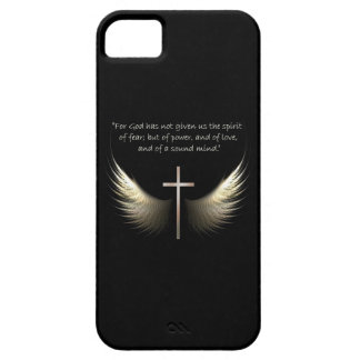 Holy Spirit and Christian Cross with Bible Verse iPhone 5 Cases