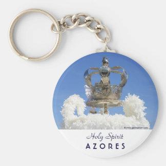 Holy Spirit crown Basic Round Button Keychain