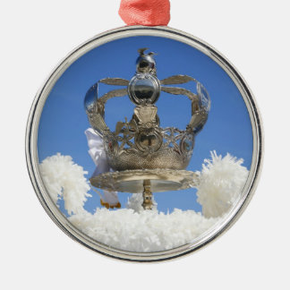 Holy Spirit crown Silver-Colored Round Ornament