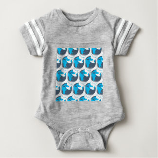 Holy Spirit dove abstract earth blessing Baby Bodysuit