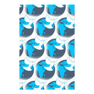 Holy Spirit dove abstract earth blessing Stationery