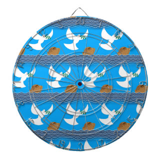 Holy spirit dove and earth abstract blue dartboard