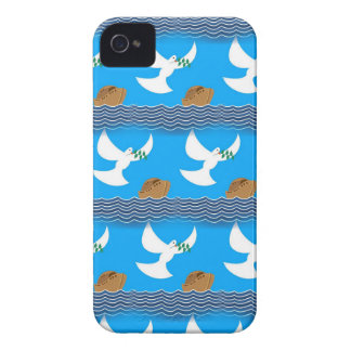 Holy spirit dove and earth abstract blue iPhone 4 cases
