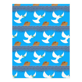 Holy spirit dove and earth abstract blue letterhead