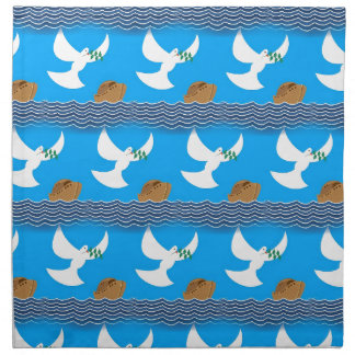 Holy spirit dove and earth abstract blue napkin