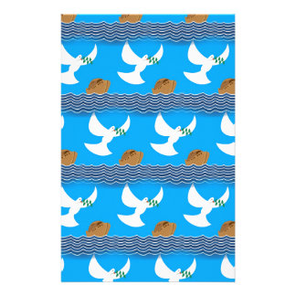 Holy spirit dove and earth abstract blue stationery