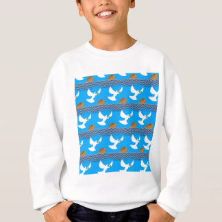 Holy spirit dove and earth abstract blue sweatshirt