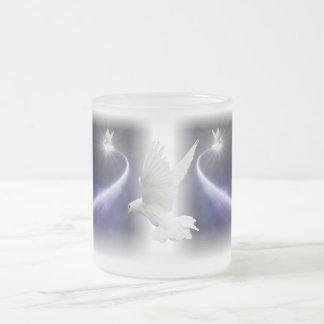 Holy Spirit Dove Art Frosted Coffee Mug