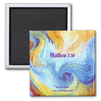 Holy Spirit Dove, Matthew 3:16 Square Magnet