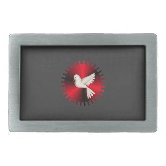 Holy Spirit Dove Rectangular Belt Buckle