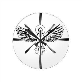 Holy Spirit dove Round Clock