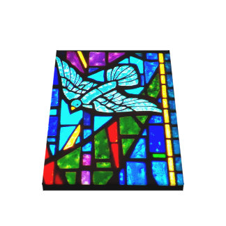 Holy Spirit Dove Stained Glass Window Canvas Art